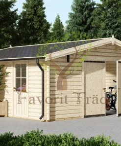 Trä garage 36m², (6mx6m), 44 mm/66 mm