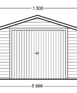 Trä garage 30m² - PLAN