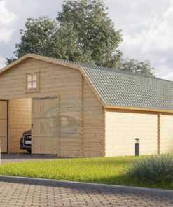 Trä garage Texas 36m², 44mm