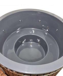 Klassisk glasfiber badtunna (extern kamin)