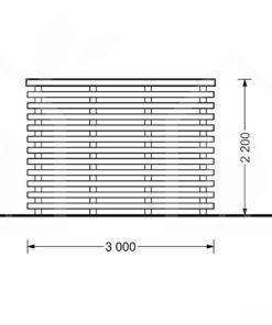 Friggebod med Terrass AISNE PLUS 9m² (3x3) 28mm
