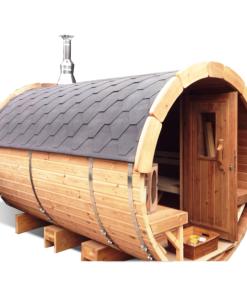 Bastutunna 3,5 m / Ø 2,27 (med 1 m omklädningsrum)_Termo trä