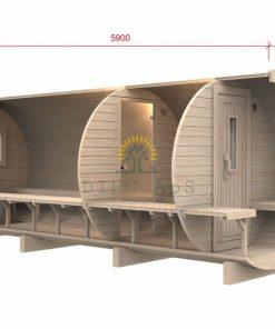 Bastutunna 5,9 m / Ø D-1.97 (med 1,5 m omklädningsrum)