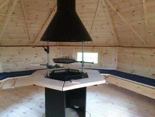 Exklusiv grill och bastu stuga 16,5 m²