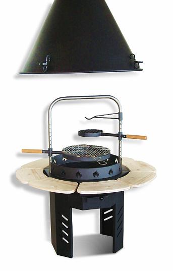 Flame BBQ Grill med rund skorsten