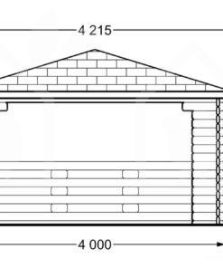 Lusthus TONNELLE 16m² (4×4) 44mm