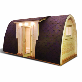 Lyxig Isolerad Camping Pod 4,8 m med sideindgang