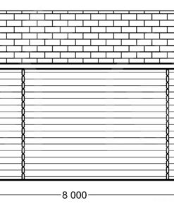 Modern dubbel garage 48m², 44mm- PLAN