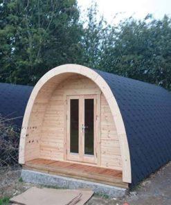 Lyxig Isolerad Camping Pod 3 m x 5.9 m