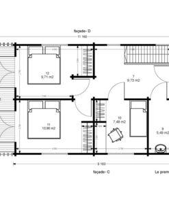 Fritidshus - Sommarhus Toulouse 5.85 m x 11.16 m