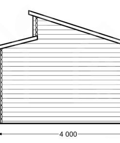 Twin trä garage 24m², 44mm - PLAN