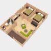 Fritidshus 53 m² Almeria, 68 mm