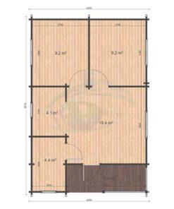 Fritidshus 53 m² Almeria, 68 mm_floor plan