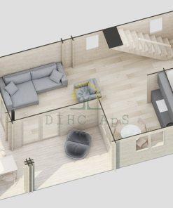 2 våningar hus - Volt (87 m2 + 19 m² terrass +10 m² balkong)