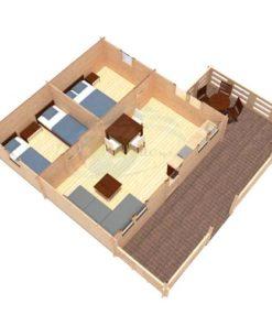Sommarhus 36 m² Gustav, 44 mm