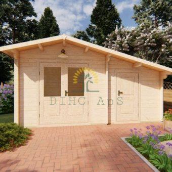 Trädgårdsstuga 15m² Deco, 44mm