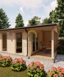 Moderne trädgårdshus 31,5 m² Emily, 44mm