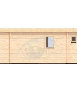 Moderne trädgårdshus 31,5 m² Rico, 44mm - back