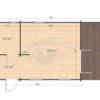 Moderne trädgårdshus 31,5 m² Rico, 44mm - floor plan