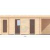 Moderne trädgårdshus 31,5 m² Rico, 44mm - front