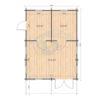 Sommarhus 27 m² Torino, 44 mm - floor plan