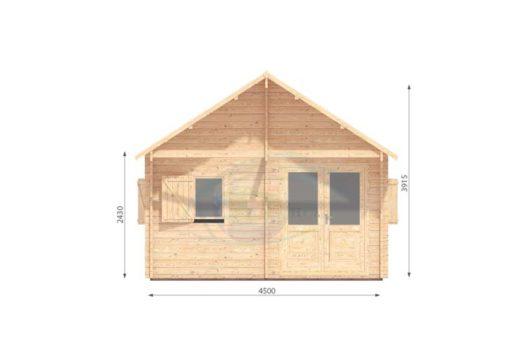 Sommarhus 27 m² Torino, 44 mm - front