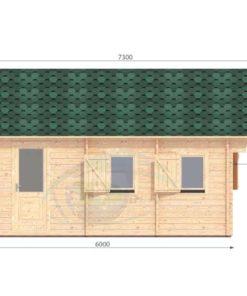 Sommarhus 27 m² Torino, 44 mm - left