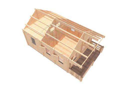 Sommarhus 27 m² Torino, 44 mm