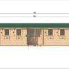 Attefallshus Helmand (3m x 9m), 44 mm: front