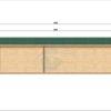 Attefallshus Helmand (3m x 9m), 44 mm: Back