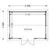 Attefallshus Poolhouse 12 m²_Floor plan