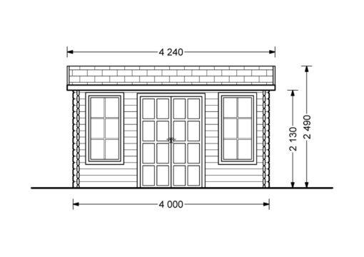 Attefallshus Poolhouse 12 m²_Front