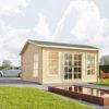 Attefallshus Poolhouse 12 m²