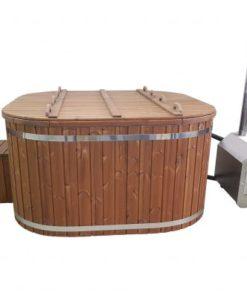 Fyrkantig badtunna (extern kamin)