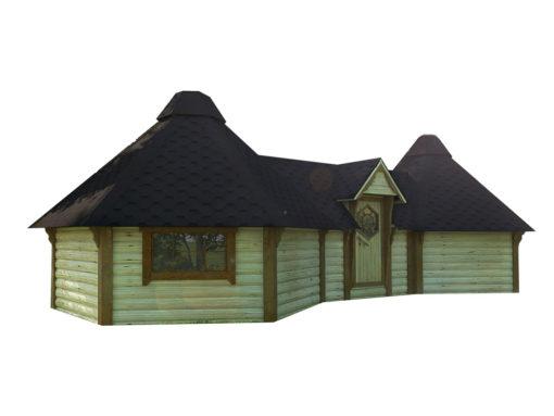 Camping stuga 9.2 + 9.2 m²
