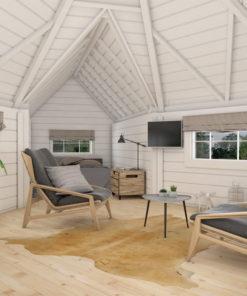 Camping stuga 9,2 m² med 2 förlängning