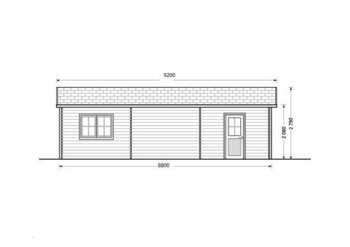 Dubbel trä garage 49.9m²