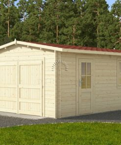 Trä garage (4 m x 6 m), 44 mm