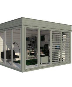 Isolerad Cube-Trädgårdskontor (3 m x 4 m)