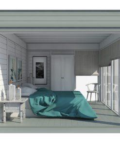 Isolerad Cube-Hotel (3 m x 4 m)