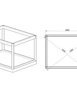 Isolerad Cube-Hotel (3 m x 4 m) - fundament