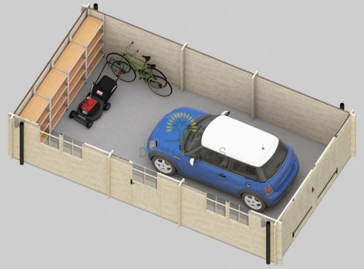 Garage Woody 3.7 m x 7.2 m (26.8 m²)