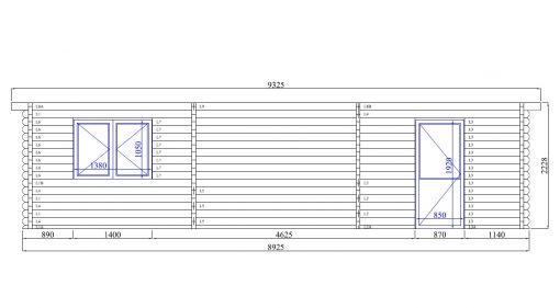 Garage Roddy 5.7 m x 8.7 m (49 m²)