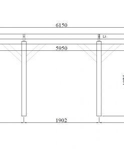 Trä carport Singuli 18 m²