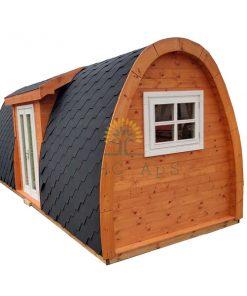 Isolerad Camping Pod 2.4 m x 6.3 m (med sideindgang)